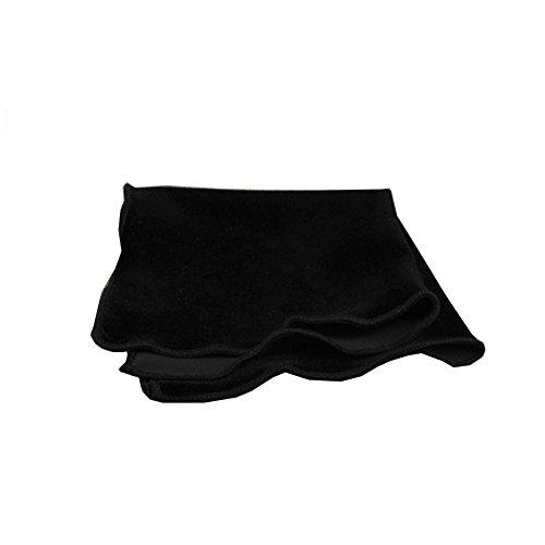 Sitong hommes mode velours mouchoir costume poche carr¨¦ Noir