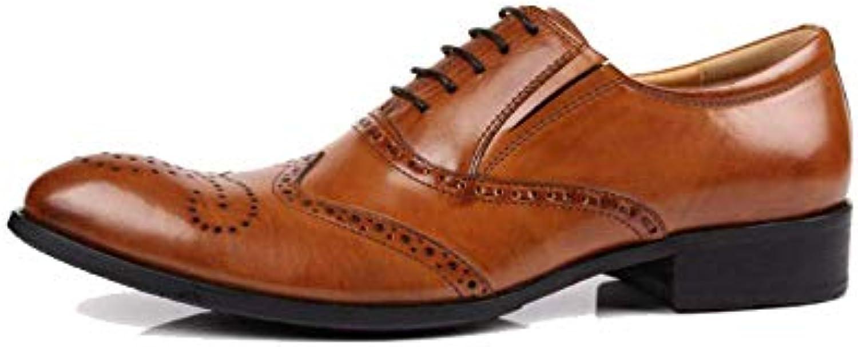 ZPEDY Uomini, Scarpe di Cuoio, Inghilterra, A Punta, Broch, Intagliato, da Lavoro, Retro, Pizzo | Più pratico  | Uomo/Donne Scarpa