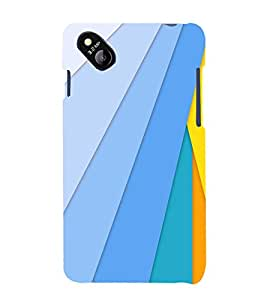 printtech Colored Lines Back Case Cover for MicromaxBolt D303
