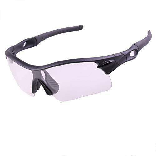 DOLOVE Motorradbrille Vintage Sonnenbrille Schutzbrille Infrarotlampe Schwarz-Klar+Schwarz Lens