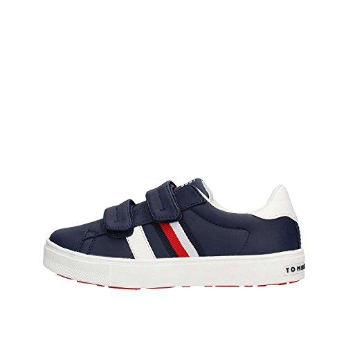 Tommy Hilfiger T3X4 Sneaker Unisex Pelle Blu Bianco