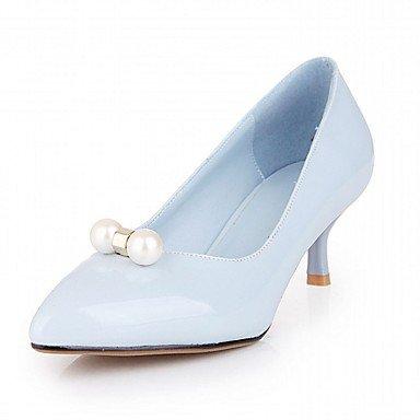 Moda Donna Sandali Sexy donna tacchi Primavera / Autunno / Inverno Novità sintetico brevetto / Cuoio / LeatheretteWedding / Ufficio & Carriera / Party & sera abito / Blue