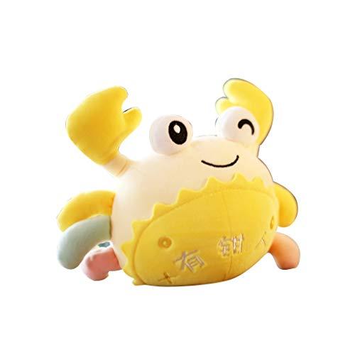 HUOQILIN Plüschtier Süße Krabben Puppe Haarige Krabben Plüschtier Puppe Puppe (Color : Yellow) (Angry Birds Bird-namen Yellow)