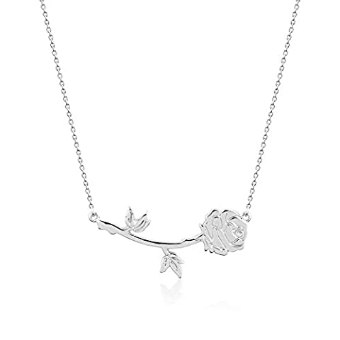 Collier Disney - Disney Couture Plaqué or blanc Beauty and