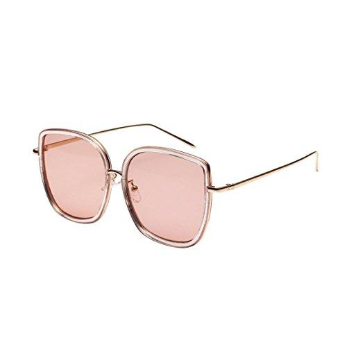 Trada Sonnenbrillen, Fashion Neutral Large Frame Sonnenbrille Sonnenbrille Integrierte UV-Brille Damenbrillen Herrenbrillen Frauen Retro Vintage Brille Nachtsichtbrille Eyewear Travel (Kaffee)