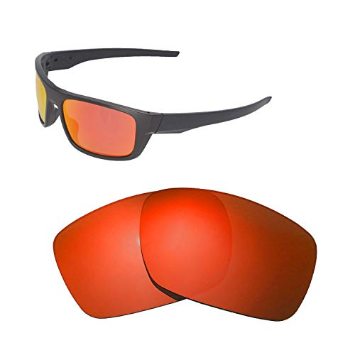 Walleva Ersatzgläser für Oakley Drop Point Sonnenbrille - Verschiedene Optionen erhältlich, Unisex-Erwachsene, Fire Red Mirror Coated - Polarized, Einheitsgröße