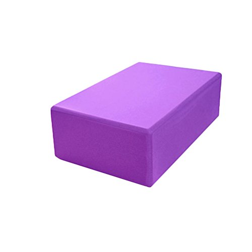 ultnice EVA Foam Yoga Block Ziegel Yoga Pilates Bausteine EVA Schaum Block Sport Fitness Gym (violett)