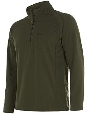 Keela Pulse Top Micro chaqueta de forro polar, Microfelpa, hombre, color verde oliva, tamaño XS