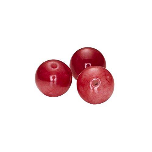 PANDURO Perles jade Malaisie rouge