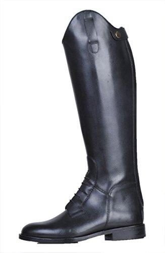 HKM Bottes d'équitation Homme Spain Soft Cuir courte/Large Noir - Noir