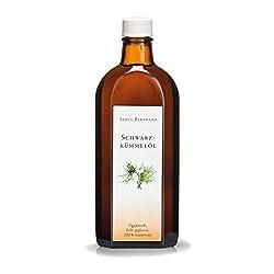Sanct Bernhard Schwarzkümmelöl pur 100% naturrein, ägyptisch, kalt gepresst 250-ml-Glasflasche