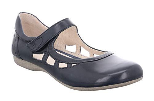 Josef Seibel 87255 Fiona 55 Damen Riemchenballerinas,Mary-Jane,Flats,Knöchelspange,Sommerschuh,sportlich,Ocean,39 EU -
