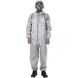 QICLT Traje de protección contra Multiusos para Trabajo con Productos químicos, anochecer, partículas nucleares, antiestático protección General,XXL