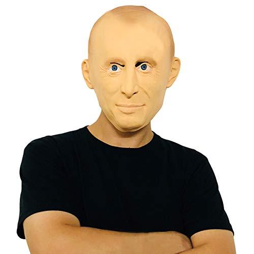 Finalshow Russicher Präsident Vladimir Putin Maske - Perfekt für Fasching, Karneval & Halloween - Kostüm für Erwachsene - Latex, Unisex Einheitsgröße