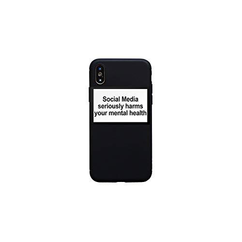 Anastasia.S Social Media schadet ernsthaft Ihre Mental Health weiche Silikon-transparente Abdeckung Telefon-Kasten für iPhone X Xr Xs Max 6 7 8 Plus 5 5S 6S, 3 Soft Case, für iPhone Xr (Galaxy S Samsung Iii-telefon-abdeckung)