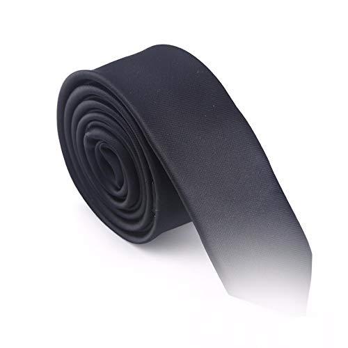 WUNDEPYTIE Solid Color Tie 4Cm Narrow Version Korean Fashion Casual Business Dress Wedding Gown Tie, Black Grid Solid Black Bow Tie