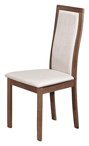 Tuoni every sedia, legno rifinito, olmo scuro, 2 pezzi