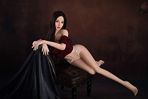 Xingjo Lebensechte Sexspielzeug Für Männer Sexpuppe,Sex Roboter,Öffnungen Vagina Oral Anus Teen Liebespuppe Weiblich Silikon 3D TPE Sex Real Doll Puppen 160Cm