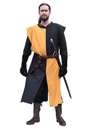 Battle-Merchant Waffenrock Wappenrock Eckhart einfarbig/schachbrett S-XXL div Farben Ritter Mittelalter Kostüm (XL/XXL, (Armee Schwarzer Ritter Kostüm)