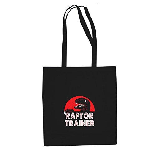 Raptor Trainer - Stofftasche / Beutel, Farbe: schwarz (Velociraptor Dinosaurier Kostüm)