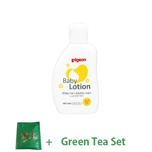 Baby Japan Pigeon Baby Milk Lotion 120ml - Floral Fragrance From 0 Year Olds (Green Tea Set)