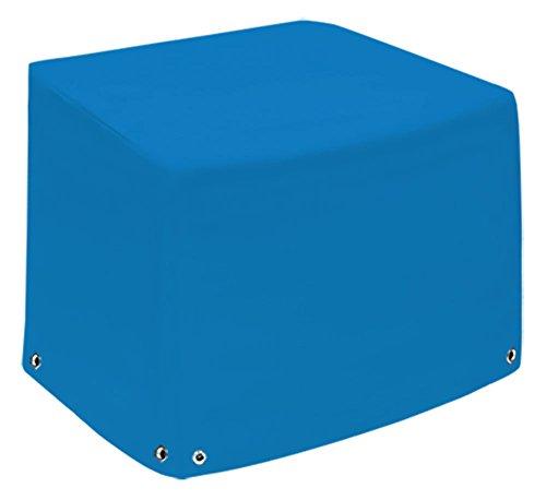 Fauteuil lounge   Capot de protection XL avec 2 hauteurs   Coque   Bâche de protection Bâche   Couverture en bâche de camion (650gr/M²)   Tissu en polyester PVC   hochfertige et langlebige météo Capot de protection   75x78 x65x110 bleu ciel