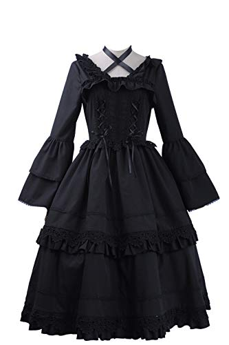 Kostüm Angel Death - Cosplayfly Angels of Death X HMM Ray Cosplay Kostüm Damen Kleid Schwarz M