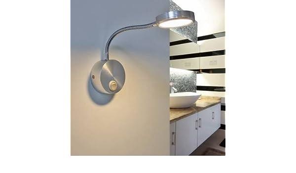 3w moderno led alluminio applique da parete punto del tubo