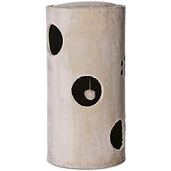 Dibea KT00950 Tonelada Torre Rascador para Gatos, 78 cm, Altura, Sisal y Peluche, Color Beige
