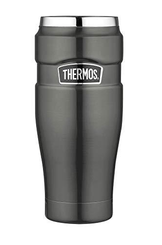 THERMOS 4002.218.047 Coffee-to-Go Thermobecher Stainless King, Edelstahl Cool Grey 0,47 l, 7 Stunden heiß, 18 Stunden kalt, BPA-Free - Stainless 7
