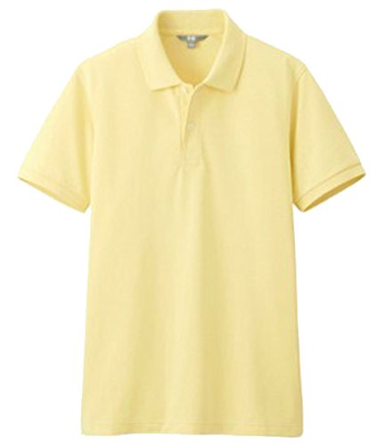 U-SHOT Herren Short Sleeve Regular Fit Tops Casual Polo Shirts Hellgelb