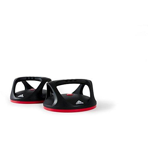 #adidas Liegestützgriffe Swivel Push Up Bars, schwarz-rot, ADAC-11401#