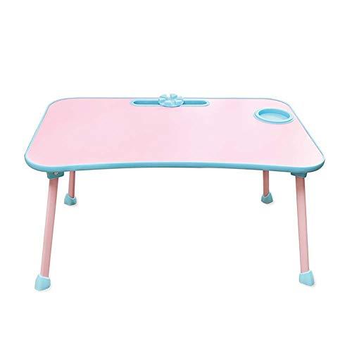 LRXGOODLUKE Arbeitstisch, klappbarer Laptop-Tisch mit Getränkehalter, benutzerfreundliches Design, geeignet für Schlafzimmer, Bett Schreibtisch, Reisen, perfekte Freizeitgeräte - Schlafzimmer Lackiert Schreibtisch