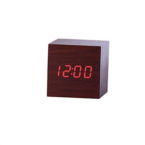 Dtuta Wecker Led-Stimme Digital Tischuhren Klatschen, Auf Den Tisch Tippen Oder Die Uhr Tippen Thermometer-Timer-Kalender