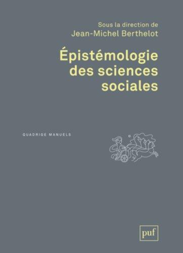 Epistmologie des sciences sociales
