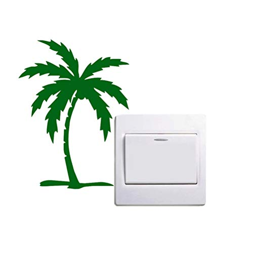 Wandaufkleber Palm Tree Schalter Aufkleber Dekoration Auto Styling Fenster Aufkleber Strand Ozean Pflanze Wohnkultur (Tree Palm Fenster Aufkleber Auto)