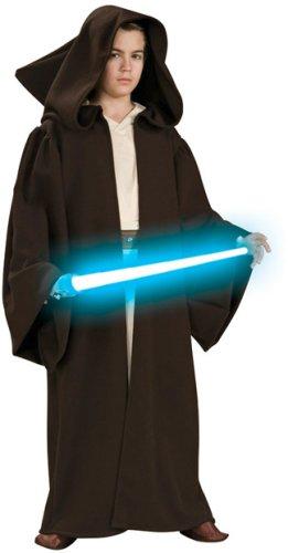Star Wars Jedi Robe Kostüm Deluxe für Kinder - Größe - Chewbacca Kostüm Zubehör