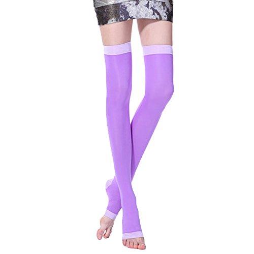 trümpfe für Krampfadern Fettverbrennung Super Dünn Sleeping Abnehmen Oberschenkel hohe Socken Zehenöffnung ()