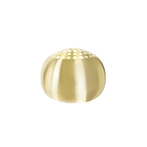 QAZQA Retro Stahl Lampenschirm Globe 33cm matt Messing, Kugelförmig Schirm Pendelleuchte
