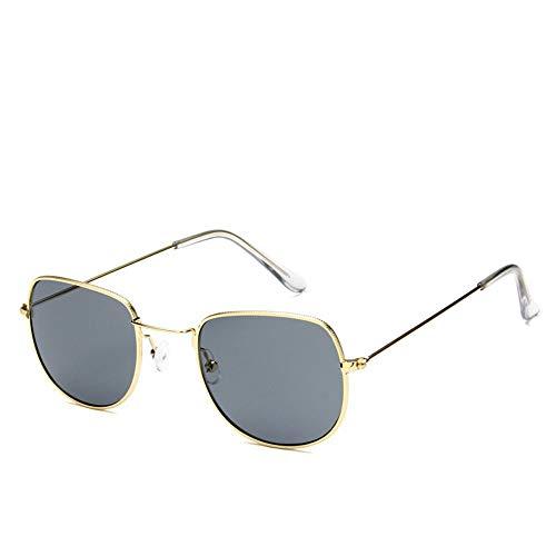 Sonnenbrille Sonnenbrille Retro Metallrahmen Uv400 Klare Linse Plain Gläser Reisen Im Sommer Sonnenbrillen Für Männer Frauen Spiegel Gold Grau (Gläser Plain Wayfarer)