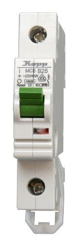 Ge Electric Circuit Breaker (Kopp 722500002 Green Electric Leitungsschutzschalter (MCB) 1-polig, 25 A)