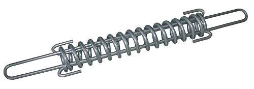 AKO Temperaturausgleichsfeder für Draht bis 2,5 mm und Horsewire - Edelstahl - Gleicht Temperaturschwankungen aus - Hält den Zaun elastisch