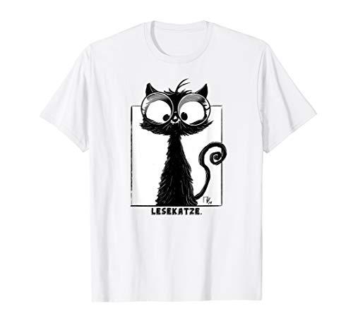 Süße Schwarze Katze mit Brille ist eine