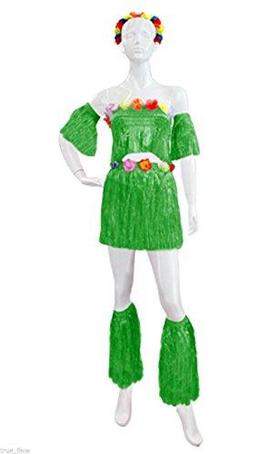 hawaiian-hula-set-flower-grass-dance-skirt-fancy-stag-hen-party-costume-lot-saleone-sizebig-full-set