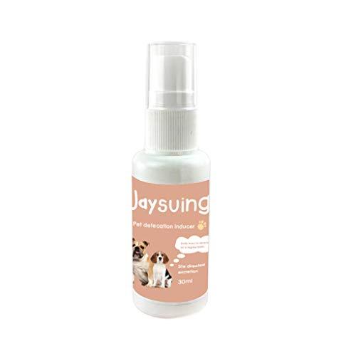 Allegorly 30 ML Deodorant, Haustier Hund Katze Töpfchen Toilette Training Spray Requisiten Induktor Deodorant Flavor Feste Defäkation Induktor Deodorant Pet Parfüm Positionierung Köder Flüssigkeit -