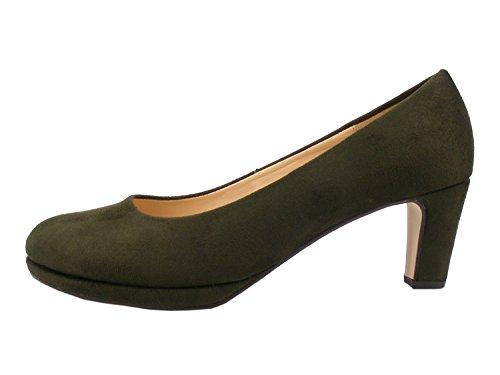 Gabor 91-260 Schuhe Damen Microvelour Plateau Pumps Weite F, Schuhgröße:40.5, Farbe:Grün