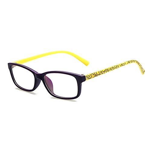 Junkai occhiali da vista per ragazzi con lenti trasparenti + custodia per occhiali - ka17112209