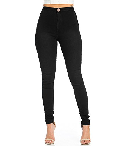 JYONE Jeans Damen, Skinny Jeans Damen High Waist Slim Leggings Röhrenjeans Bleistifthose Bleistift Hose -