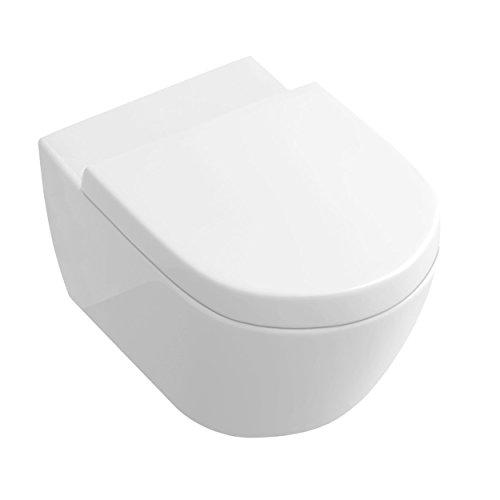 NEG Hänge-WC Uno11RK (Tiefspüler/randlos/kurz) Toilette ohne Unterspülrand mit Duroplast Soft-Close-Deckel und Nano-Beschichtung - 6