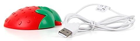 Mini souris optique pour pc Acer Aspire V 13 V3-372, V Nitro VN7-591G-71W9 et V Nitro VN7-792G-76S9 / VN7-572G-55WV - en forme de fraise rouge USB - DURAGADGET